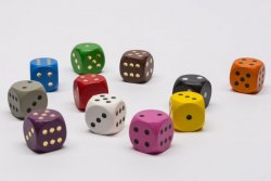 COLLECTION OF WOODEN DICE