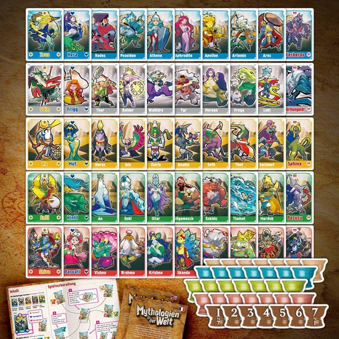 Mythologien in der Welt - Spielkarten